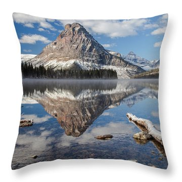 Throw Pillow featuring the photograph Two Medicine Morning by Jack Bell