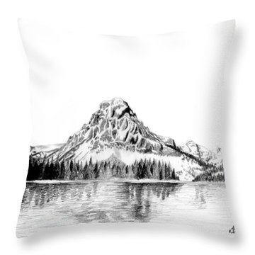 Two Medicine Mountain Throw Pillow