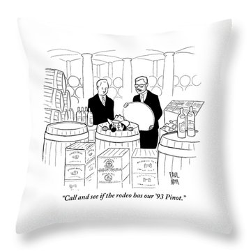 Two Men In A Wine Cellar Find A Clown In One Throw Pillow