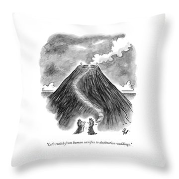 Two Men In Headdresses And Capes Stand Throw Pillow