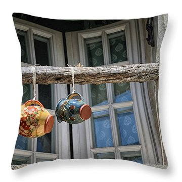 Two Mugs In A Window Throw Pillow