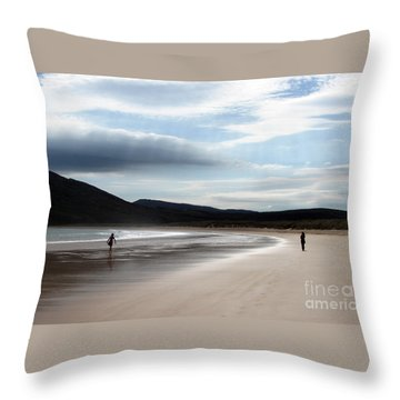 Two On A Beach Throw Pillow