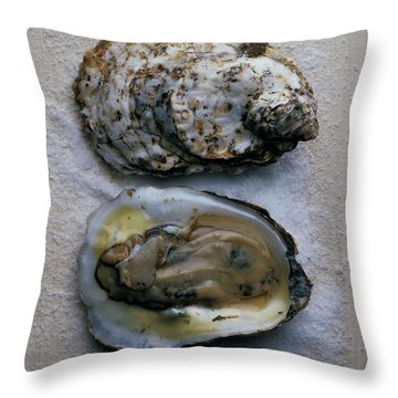 Two Oysters Throw Pillow
