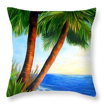 Two Palms Throw Pillow