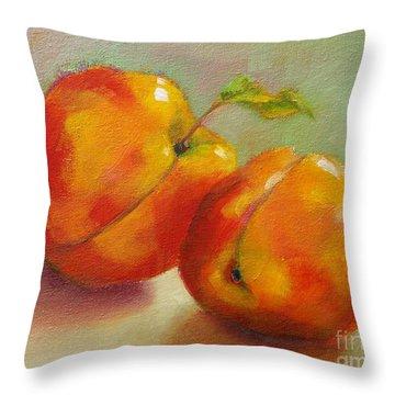 Two Peaches Throw Pillow