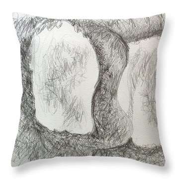 Two Peas In A Pod Throw Pillow by Esther Newman-Cohen