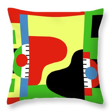 Two Pianos Throw Pillow