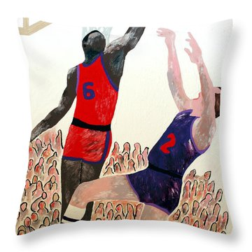 Two Points Throw Pillow by Andrew Petras