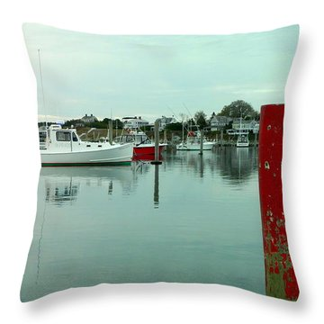 Two Poles Throw Pillow by Kathy Barney