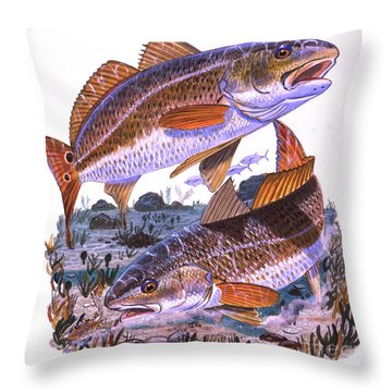 Two Reds Throw Pillow