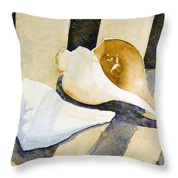 Two Shells Throw Pillow