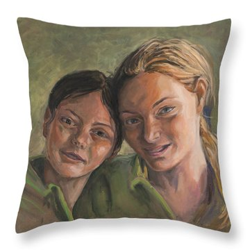 Two Sisters Throw Pillow by Marco Busoni