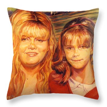 Two Sisters Throw Pillow by Stan Esson