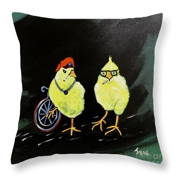 Two Smokin Hot Chicks Throw Pillow
