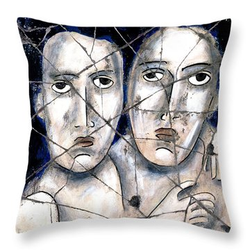 Two Souls - Study No. 1 Throw Pillow by Steve Bogdanoff