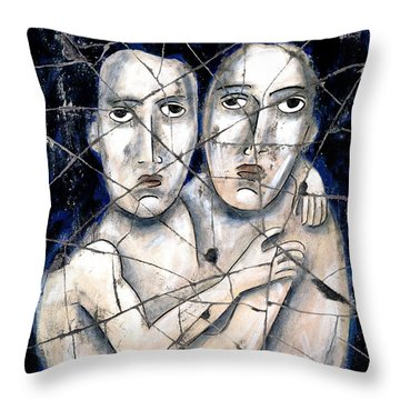 Two Souls - Study No. 2 Throw Pillow by Steve Bogdanoff