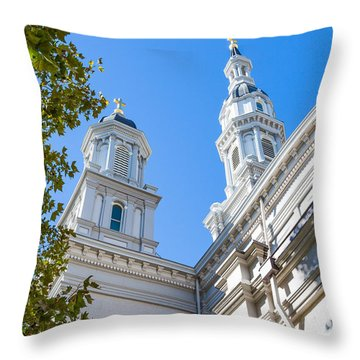 Throw Pillow featuring the photograph Two Spires by Susan Leonard