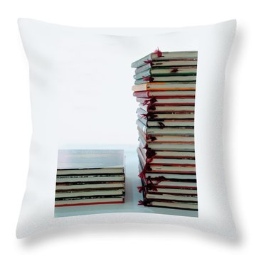 Two Stacks Of Books Throw Pillow