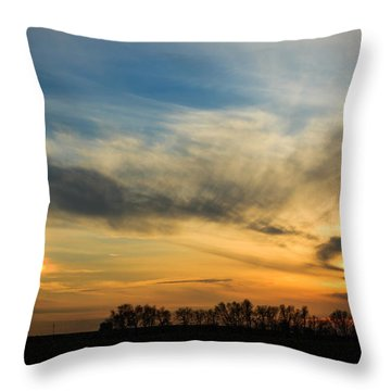 Throw Pillow featuring the photograph Two Suns Over Kentucky by Peta Thames