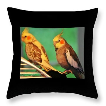 Two Tiels Chillin Throw Pillow