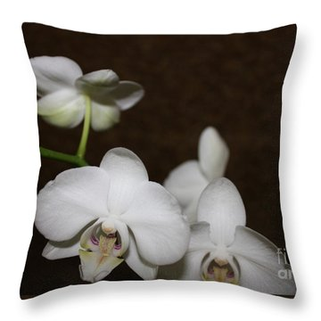 Two To Bloom Throw Pillow by Cathy Dee Janes