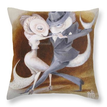 Throw Pillow featuring the painting Two To Tango by Marina Gnetetsky