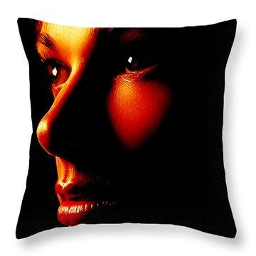 Two Tone Portrait Throw Pillow