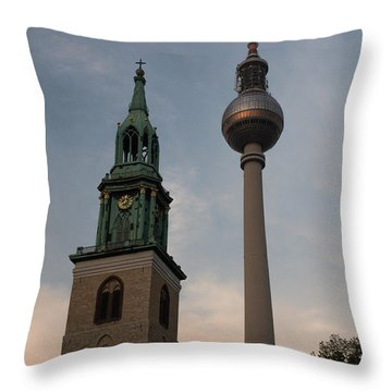 Two Towers In Berlin Throw Pillow