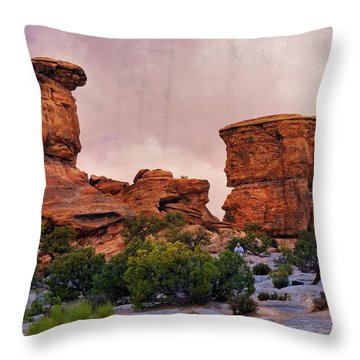 Two Towers Throw Pillow by Marty Koch