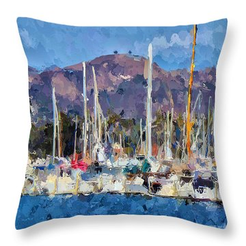 Two Trees Ventura  Throw Pillow by Andrea Auletta