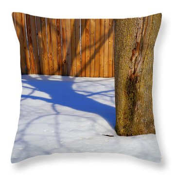Two Trees In One Throw Pillow by Paul W Faust -  Impressions of Light