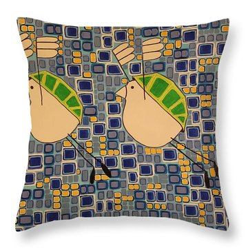 Two Turtledoves Throw Pillow