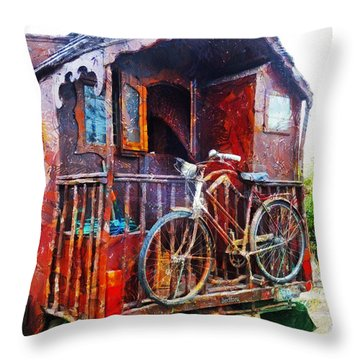 Two Wheels On My Wagon Throw Pillow