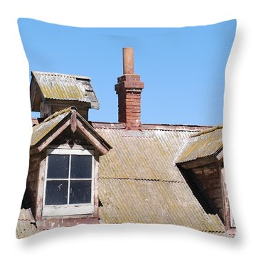Two Window Roof Throw Pillow by George Mount
