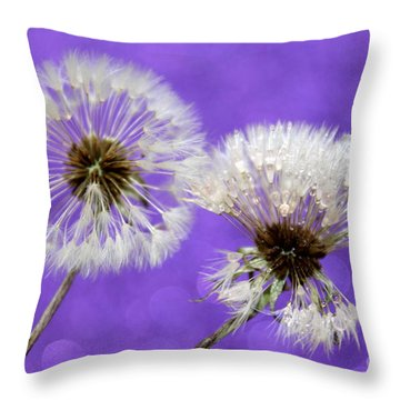 Two Wishes Throw Pillow by Krissy Katsimbras
