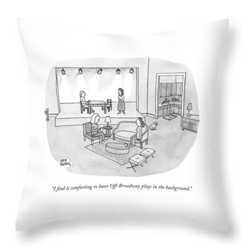 Two Women Chat In A Living Room Throw Pillow