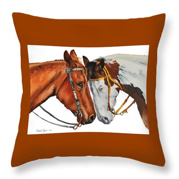Da160 Twogetherness Daniel Adams Throw Pillow