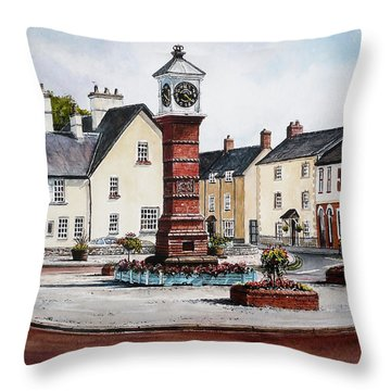 Twyn Square Usk Wales Throw Pillow by Andrew Read