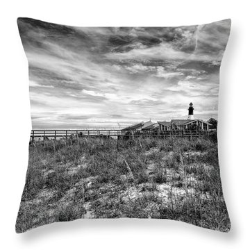 Tybee Island Light Station Throw Pillow