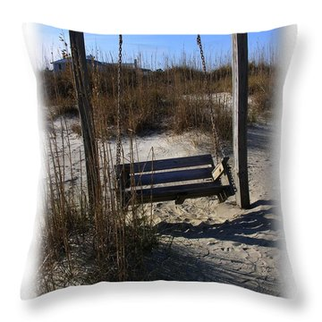 Throw Pillow featuring the photograph Tybee Island Georgia by Jacqueline M Lewis