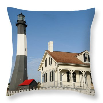 Throw Pillow featuring the photograph Tybee Island Light Station by Bradford Martin