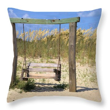 Tybee Island Swing Throw Pillow