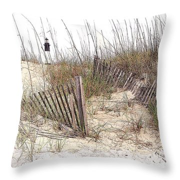 Tybee Lighthouse Throw Pillow by Marcia Colelli