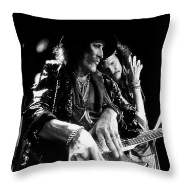 Tyler And Perry In Black And White Throw Pillow