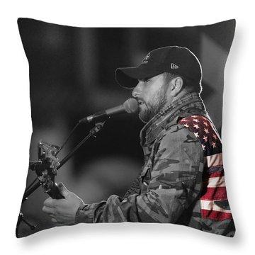 Throw Pillow featuring the photograph Tyler Farr Uss Carol Vinson by John Swartz