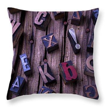 Typesetting Blocks Throw Pillow