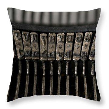 Typewriter Throw Pillow by Bernard Jaubert