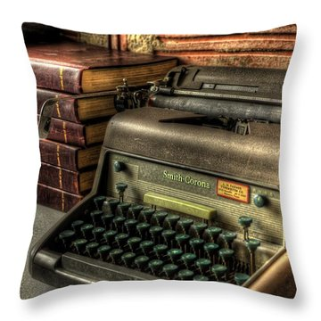 Typewriter Throw Pillow by David Morefield