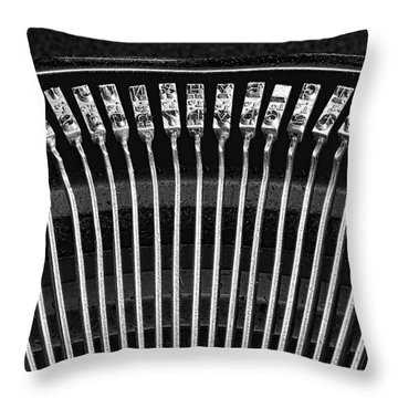 Typewriter Keys IIi Throw Pillow by Tom Mc Nemar