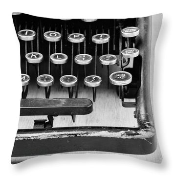Typewriter Triptych Part 3 Throw Pillow by Edward Fielding